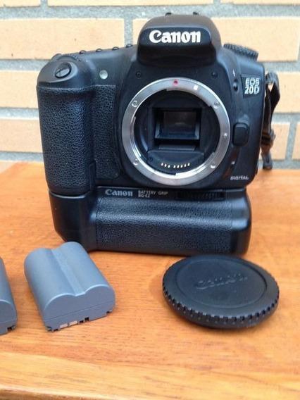 Canon 20d Corpo + Grip, 2 Baterias + Carregador.