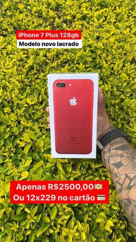 Imagem 1 de 1 de iPhone 7 Plus 128 Gb Red /original/lacrado 1 Ano De Gar.
