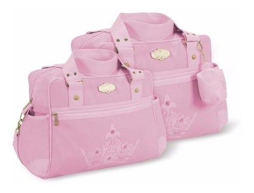 Kit Bolsas Bebê Com Porta Chupeta Cor Rosa