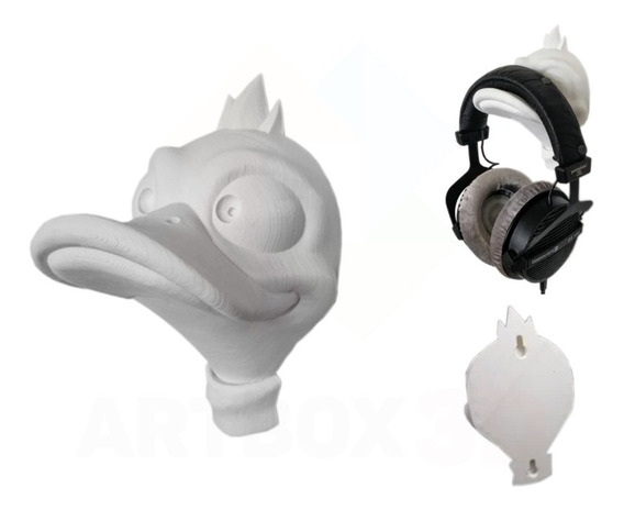 Suporte Parede Headphone Headset Pato Duck Gamer Ducktales