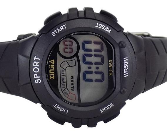 Relógio De Pulso Digital Masculino À Prova D