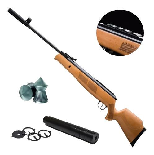 Rifle Aire Nitro Piston Fox Gr1600 5,5 / 6,35 + Silenciador