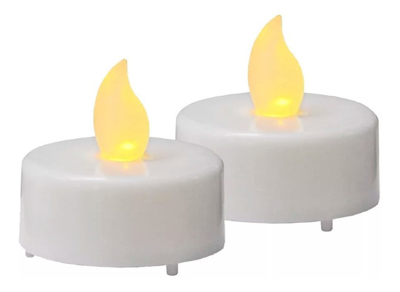 Velas Velitas Led Blanca Calida Pila Incluida Decoracion !!