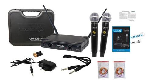 Microfone Sem Fio Duplo Digital Lyco Uh08mm Promoção