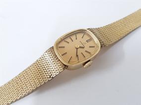 Relógio Omega Feminino Banhado Ouro 14k Vintage Anos 70