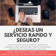 Servicio De Instalación Y Reparación De Computadoras Y Redes