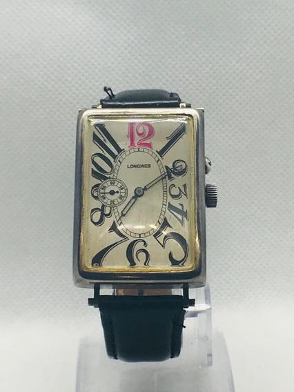 Reloj Longines Caballero Manual Art Deco En Caja De Plata