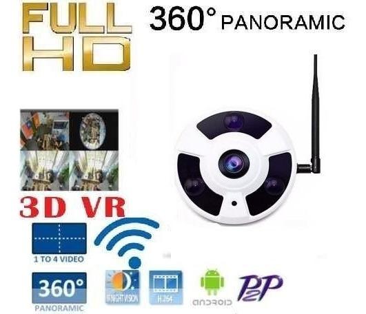 Câmera Panorâmica Segurança 3d Vr Cam Hd 1.3mp Wifi 360º Ip