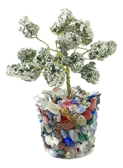 Árvore Vasinho De Pirita Pedra Natural Da Prosperidade