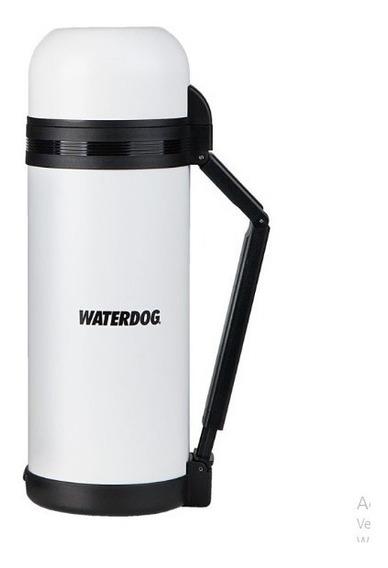 Termo Waterdog Acero 1.5 Litros Manija 1500cc Cebador Blanco