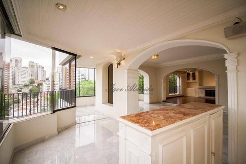 Apartamento Com 4 Dormitórios À Venda, 300 M² Por R$ 2.450.000,00 - Pacaembu - São Paulo/sp - Ap43766