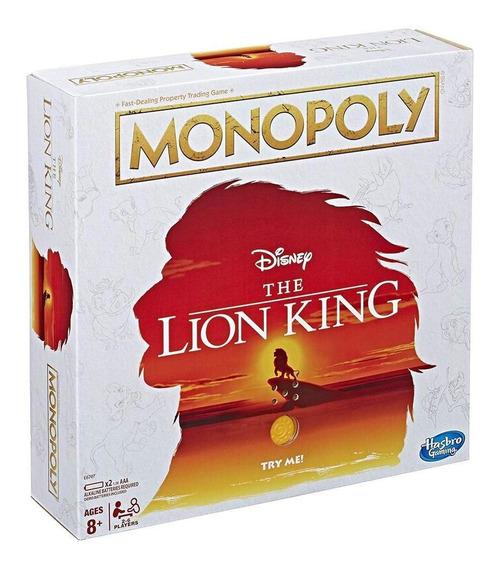 Monopoly E6707 Juego De Mesa Monopoly Rey Leon Juguete Hasbr