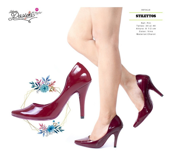 Zapatos Para Mujer Tacones 8 Cm De Alto Tallas Desde 34 A 40