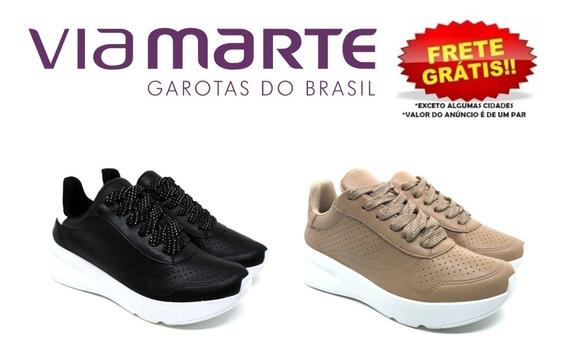 Tênis Chunky Sneaker Via Marte Feminino 18-18601 Original