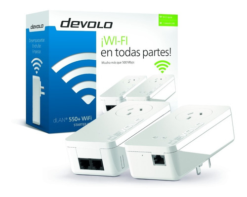 Extensor Powerline Devolo Dlan 550+ Wifi Starter Kit
