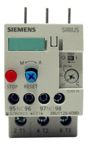 Relé Térmico Bimetalico Siemens 20.0-25.0 Amp 3ru1126-4db0