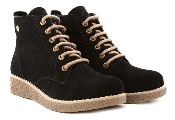 Citadina Zapatos Botineta Cuero Gamuza Modelo Crista