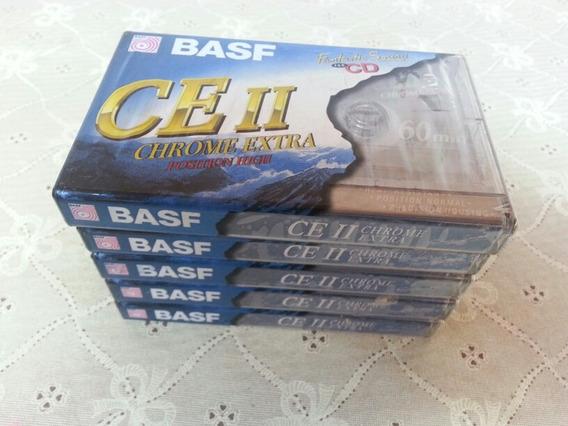 Lote 5 Fitas Cassete K7 Basf Chrome Extra 60 Virgem Lacradas