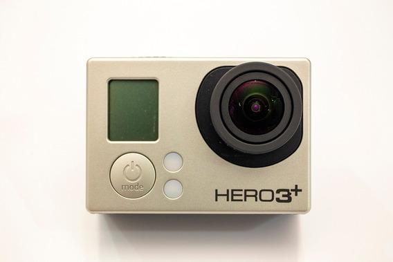 Câmera Gopro Hero 3+ Back Edition Com Estojo E Acessórios
