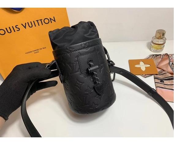 Bolsa Louis Vuitton Chalk Couro Preto Nano Bag Lançamento