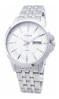 Reloj Hombre Citizen Bf201151a Acero Calendario Doble Wr50m