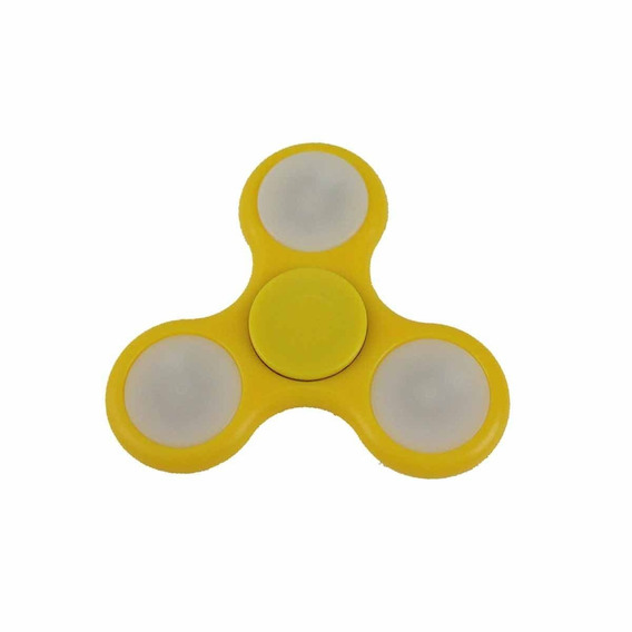 Fidget Hand Spinner Toy Amarelo C/ Led - Fingertoy