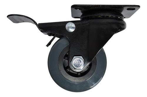Rodachina Giratoria Plataforma Poliuretano Con Freno 7 Forte