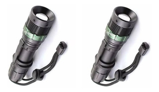 Kit 2 Lanterna Tática Recarregável Profissional Police Q5led