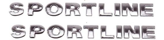 Emblema Sportline Linha Vw Cromado - Par