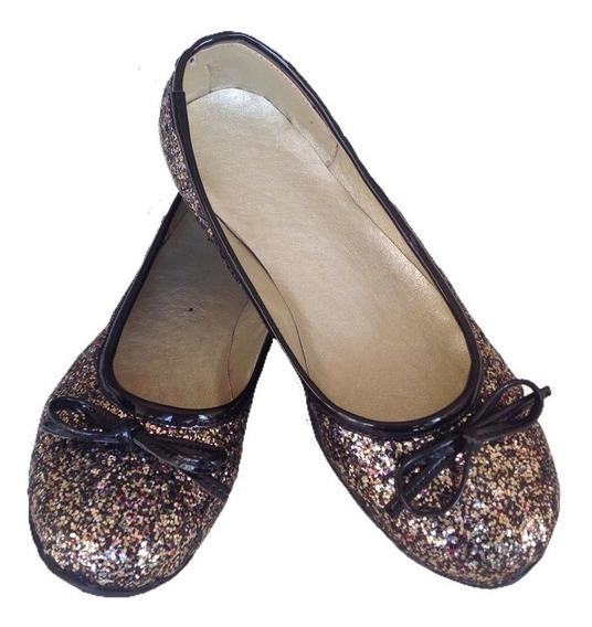 Chatitas Ballerinas Zapatos Glitter Multicolor Del 27 Al 40