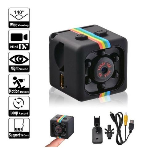 Mini Câmera Espiã Sq11 Sensor De Movimento Dvr Visão Noturna