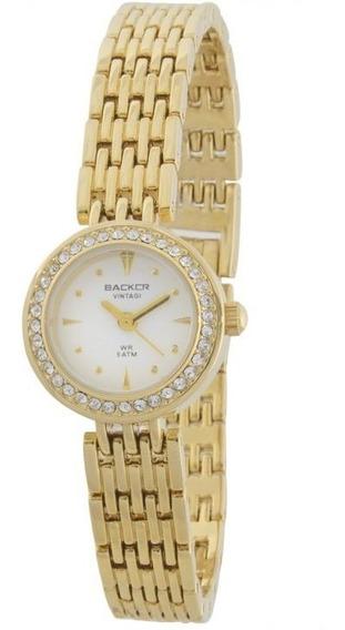 Relógio Backer Feminino Vintage 3442147f Original Barato