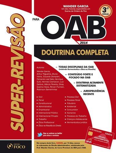 Imagem 1 de 1 de Livro Super Revisão Oab Doutrina P/ Exame De Ordem