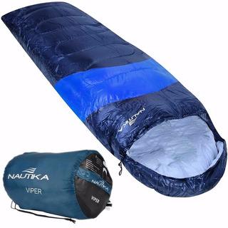 Saco De Dormir Viper Nautika Preto - Azul