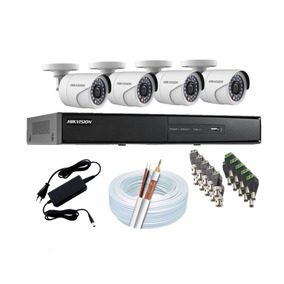 Kit Hikvision 4 Câmeras + Instalação