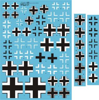 Decal Cruzes Balcânicas Luftwaffe Fcm 1/48 Decalque - Novo