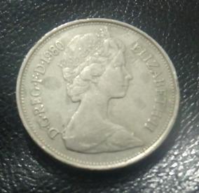 Moeda Inglaterra 10 New Pence 1980
