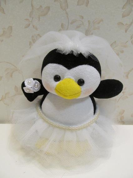 Pinguim Noiva De Pelúcia