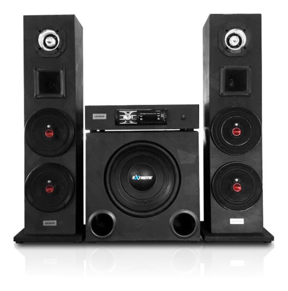 Home Theater Estéreo Residencial Extreme 2080w Bluetooth 2.1