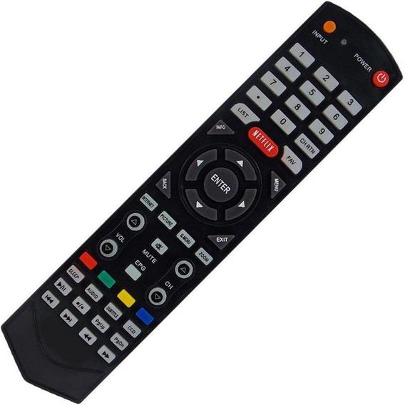 Controle Remoto Tv Semp Toshiba Smart Netflix Ct-6610