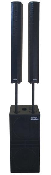 Line Array Amplificado Sub 2x15 + 2 Colunas 16 Falantes 3