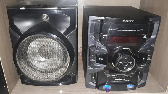 Micro System Sony Geneze Usb Auxiliar Dj Effect Com 3 Caixas