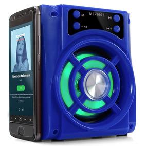 Caixa De Som Portátil Bluetooth 15w Mp3 Rádio Fm Usb Sd Aux