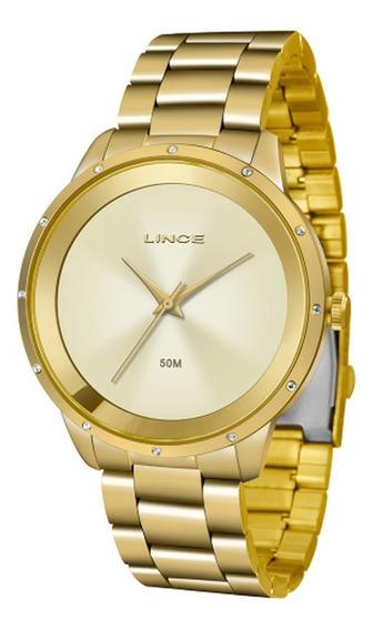 Relógio Lince Feminino Lrg619l C1kx Dourado