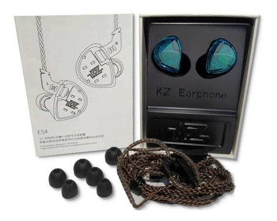 Fone Kz Es4 In Ear S/mic Retorno Monitor Palco Esportes