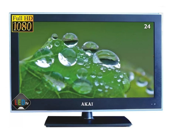 Tv 24 Led Full Hd 12v Akai Japão P/ Caminhão Lancha Trailer