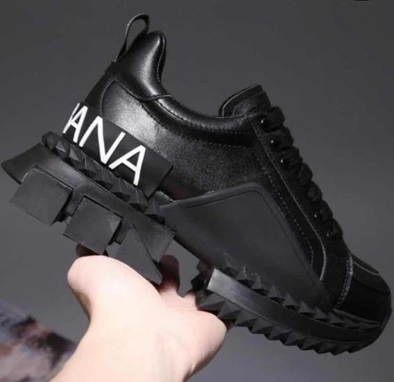 Tênis Dolce & Gabbana Superking All Black Henrique