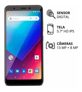 Smartphone Multilaser Ms60x 5.7 Android 8.1 Go Quadcore 16gb