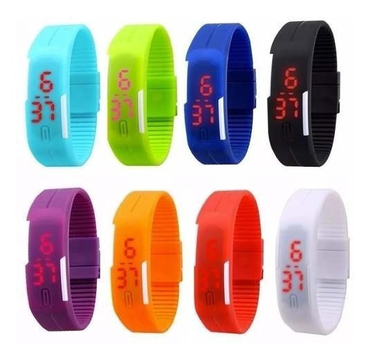 Pack 10 Reloj Led Silicona Deportivo Unsx Sport / Lhua Store