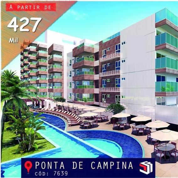Apartamento Para Venda Em Cabedelo, Ponta De Campina, 2 Dormitórios, 1 Suíte, 1 Banheiro, 1 Vaga - 7639